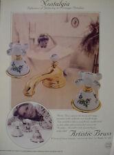 1978 Artistic Brass Nostalgia Bathroom Fixtures Home Decor VTG Ad 12976