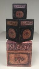 Bobs Boxes Box Inside A Box 3 Nesting Boxes, Primitive Tall Hearts SW#87