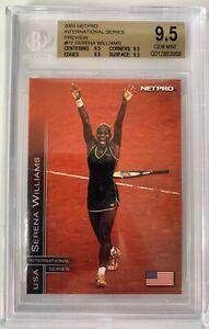 2003 Netpro Glossy Int'l Preview Serena Williams #PR Test Print Error BGS 9.5 /1