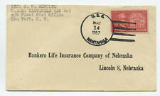 1957 USS Nantahala navy postmark on commercial cover 3ct Hamilton [3492.2]