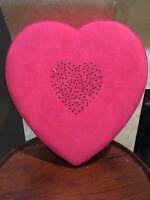 Vintage Godiva Valentine's Day Heart Shaped Box Red Velvet Crystals (empty)