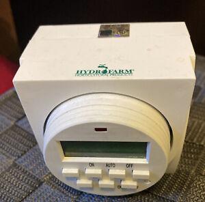 Hydrofarm TM01715D Dual Outlet Digital 7-Day Timer 15 amp