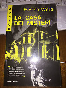 LA CASA DEI MISTERI ROSEMARY WELLS  junior giallo fuori commercio