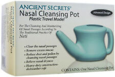 Neti Nasal Cleansing Pot Plastic Travel Model by Ancient Secrets, 1 piece