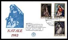 Weihnachten. Engel. Gemälde. FDC. San Marino 1982