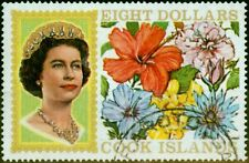 Cook Islands 1969 $8 Flowers SG247ac Very Fine Used