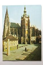 Vintage Postcard Praha The 3rd Castle Courtyard With St. Vitus Cathedral