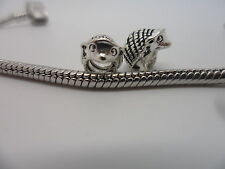 925 Silver~SP~ Hedgehog ~  Charm Bead Fit European Bracelet/Necklace 10x8x8mm