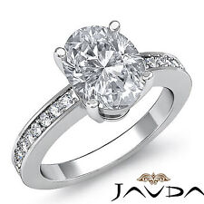 Oval Diamond Classic Engagement Ring GIA Certified F SI1 14k White Gold 1.25 ct