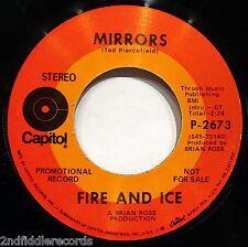 FIRE AND ICE-Mirrors-Mega Rare Mod Funk Freakbeat Dancer Promo 45-CAPITOL P 2673