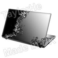 "Da 15,6 ""Laptop Skin Adesivo Decalcomania GRIGIO VITI VINTAGE 236"
