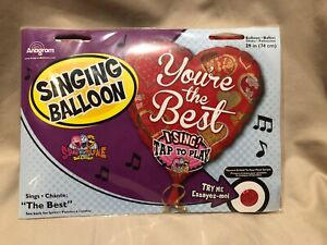 """You're the Best 29"""" Singing Balloon Sings """"The Best"""" NEW"""