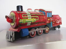 OLD CHINA TIN TOY TRAIN LOCOMOTIVE MF 170 BATTERY OPERATED - WORLDWIDE SHIPPING