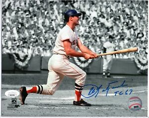 "CARL YASTRZEMSKI HOF SIGNED 8X10 PHOTO AUTO AUTOGRAPH JSA COA ""TC 67"" BW RED SOX"