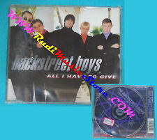 CD singolo Backstreet Boys All I Have To Give JIVE CD 445 EU 1997 SIGILLATO(S30)