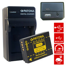 4in1 Caricabatteria + Batteria per DMW-BCG10E Panasonic DMC-TZ18 / TZ20 / TZ25