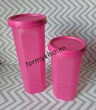 Tupperware Round Modular Mates Set Pink #3, #4 New!!