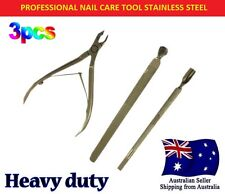 3pcs Set Stainless Steel Nail Cuticle Spoon Pusher Remover Cutter Nipper Clipper