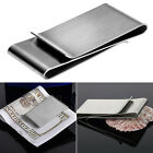 Stainless Steel Double Sided Money Clip Wallet Credit Card Holder Men's Gift