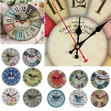 12cm Vintage Wooden Wall Clock Chic Rustic Style Kitchen Home Antique Arts Decor
