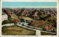 Grand Canyon National Park Arizona aerial from EL Tovar Hotel ~ c1915 postcard