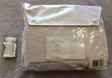 Sferra Francesca 350 White Full Bed Skirt Hand Inset 3-Panel New