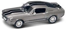 NIB 1/43 Diecast SilverGray 1967 Shelby Mustang GT500 Eleanor Gone In 60 Seconds