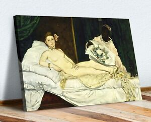 CANVAS WALL ART PAINTING PRINT ARTWORK Edouard Manet Olympia female nude vintage