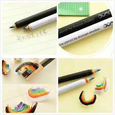 2Piece Black and White Rainbow Pencil Drawing Painting Pencils Office Stationery