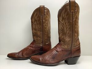size 10 B Vintage Justin Brown Suede Western Cowboy Boots
