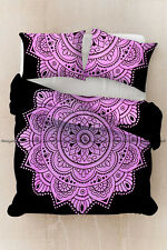 Indian pink ombre cotton mandala hippie bohemian duvet cover bedding quilt cover
