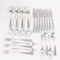 Vintage 1938 ROSALIE Silverplate Flatware 25 Pieces by Wm Rogers