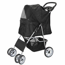 Dog Cat Stroller Cat Walk Folding Travel Cart for Small Medium Pets Foldable