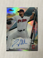 LOGAN ALLEN 2020 Topps Finest REFRACTOR SP RC BLUE INK AUTO! INDIANS!