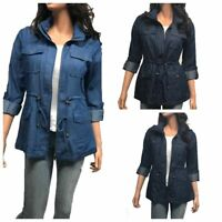 Women's Denim  Chambray Light Weighted  Cargo Casual Jacket PLUS(1XL-3XL)