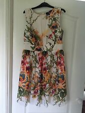 little mistress wedding outfit dress floral summer Size 12