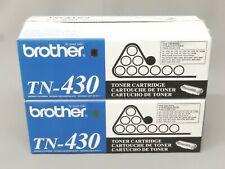 Brother TN-430 TN430 Black Toner Cartridge HL-1030 Genuine New Open Box Lot Of 2
