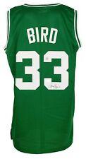 Larry Bird Signed Boston Custom Green Pro-Style Basketball Jersey Bird Holo+ BAS