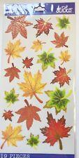 Gold Foil Vellum Maple Leaves Stickers Papercraft Planner Journal Fall Autumn