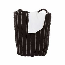 Premier Housewares Lida Laundry Rope Basket - Black -from The Argos Shop on EBAY