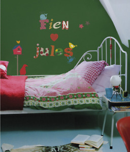 KidsLAB 91 Piece Colorful Alphabet & Objects Peel & Stick Wall Decal Set HS60003