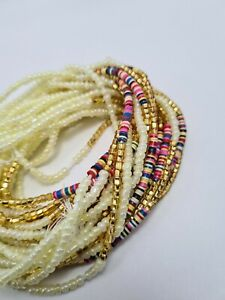 Tie On Waist Beads Belly Chain Weight control beads Add your Waist Measurement