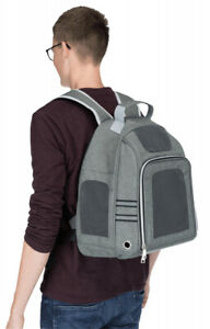 Trixie Dan Grey Backpack Carrier 38x50x26cm Max 6 kg - Small Dog Cat Puppy