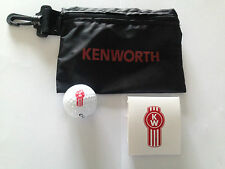 BNIP Genuine Kenworth Merchandise Golf Ditty Bag Set Golf Ball & Set of 5 Tees