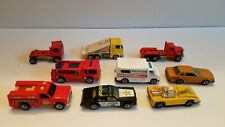 Vintage Hot Wheels Emergency Vehicles Police-Fire Truck-Rescue & 2 Cars LOT OF 9
