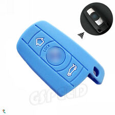 Light Blue Silicone Remote Smart Fob Key Cover fit for BMW 3 5 Series X5 X6 M5