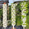 Vertical Stackable Strawberry Herb Garden Planter Flower Veg Pots DIY -White