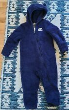 The North Face 18-24 One Piece Fuzzy Bunting Blue