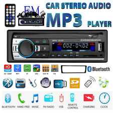 1DIN Car Stereo Radio 12V Bluetooth Audio SD USB AUX FM MP3 Car Player