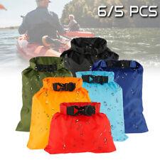 5Pcs/set Waterproof Dry Bag Outdoor Beach Buckled Storage Sack Drifting Bags